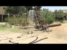 درعا النعيمة ــ قصف قوات النظام يستهدف محطات الكهرباء 17  5  2014