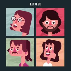 Let it Be - a tribute to the Beatles by Momo & Sprits, via Behance