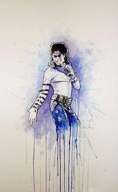 Michael Jackson piece 2 by PAINTPLASM, via Flickr