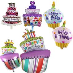Foil Balloons Happy Birthday party Decorations kids air Balls inflatable Ballons lovely Birthday Cake Party balloons #clothing,#shoes,#jewelry,#women,#men,#hats,#watches,#belts,#fashion,#style