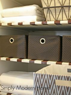 Tips for Organizing Your Linen Closet/  Simply Modern Home