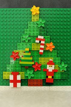LEGO Ornaments- she has some instructions for ornaments on the site. I love the duplo tree- our elf might have to make one this year