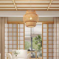 Bamboo Pendant LightRattan Pendant LightBamboo   Etsy Bamboo Pendant Light, Bamboo Light, Bamboo Lamp, Rustic Pendant Lighting, Pendant Lights, Rattan Light Fixture, Rattan Lamp, Light Fixtures, Halle