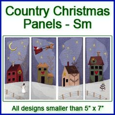 A Country Christmas Panels Design Pack - Sm   6.97