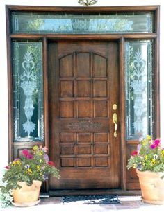 Home decor ideas on pinterest wooden front doors wall for Beautiful wood front doors