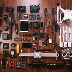 Gear Inspiration of the day ❤️ Photo by @jcarlodilla Tag your gear pics #Rentorlend Tag a camera nerd  #Canon #sony #Dji #gopro #Gear #beautifulthings #inspired #flatlay #camera #lens