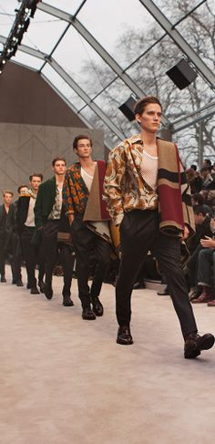 The finale of the Burberry Prorsum Menswear A/W14 show