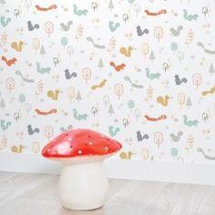 Papier peint chambre bebe forêt arbres - Papiers peints bébé garçon ...