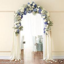 7 foot white WEDDING ARCH indoor/outdoor wedding decor i want with Wedding Ceremony Ideas, Outdoor Wedding Decorations, Ceremony Decorations, Wedding Table, Wedding Reception, Outdoor Ceremony, Reception Entrance, Arch Decoration, Wedding Backyard