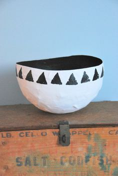 Make a classy paper mache bowl... yes, classy.