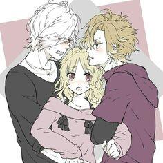 Diabolik Lovers (More Blood)- Yui, Kou, and Subaru #Anime #Game #Otome