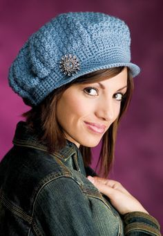"""Newsboy Cap & Medallion Belt, part of Crochet's FREE Fashion Accessory of the Month. Get the download here: http://www.crochetmagazine.com/crochet_project.php?id=13 """"Like"""" the Crochet Facebook page so you don't miss a single monthly installment: https://www.facebook.com/CrochetMagazine"""