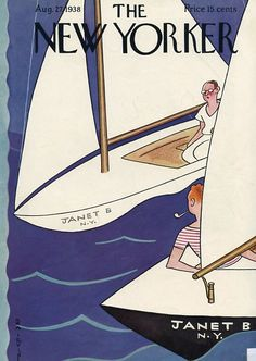 The New Yorker cover - August 27, 1938 (Rea Irvin).  Just had this framed, amazing!