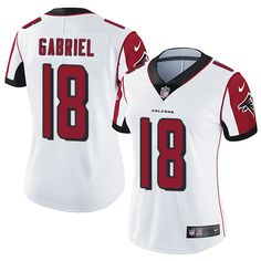 Nike Falcons  18 Taylor Gabriel White Women s Stitched NFL Vapor  Untouchable Limited Jersey And Bengals c8468689a