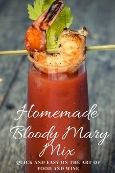 This perfectly seasoned homemade Bloody Mary Mix and recipe takes just to put together. Great for parties and brunch. Bloody Mary Spice Mix Recipe, Zing Zang Bloody Mary Recipe, Homemade Bloody Mary Mix, Bloody Mary Recipes, Canning Recipes, Spicy Recipes, Wine Recipes, Pineapple Juice, Lime Juice