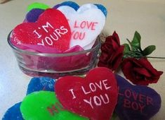 Single-use soaps. These are done for Valentine's, but you could do them in any shape/color. This just seems really brilliant.