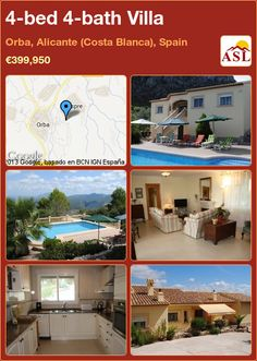 4-bed 4-bath Villa in Orba, Alicante (Costa Blanca), Spain ►€399,950 #PropertyForSaleInSpain