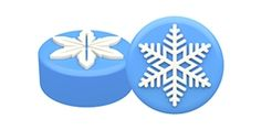 Chocolate Covered Oreo Winter Snowflakes Sandwich Cookie Mold by SpinningLeaf