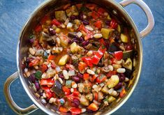 The BEST Vegetarian Chili Make it with eggplant plum tomatoes onion garlic zucchini bell peppers jalapeos white beans kidney beans and cilantro. You wont miss the meat Vegetarian Chili, Vegetarian Recipes, Healthy Recipes, Vegan Chili, Chili Chili, Healthy Soup, Meatless Chili, Vegan Stew, Spicy Chili