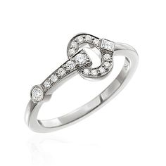 "DIAMOND ""GALLOP"" STACKABLE RINGS-R815"