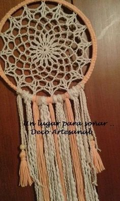 atrapasueños fun diy crafts for couples - Fun Diy Crafts Crochet Mandala Pattern, Doily Patterns, Crochet Patterns, Fun Diy Crafts, Diy Arts And Crafts, Crochet Tablecloth, Crochet Doilies, Lace Dream Catchers, Crochet Dreamcatcher