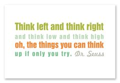 Free printable Seuss quotes, one on a bookmark