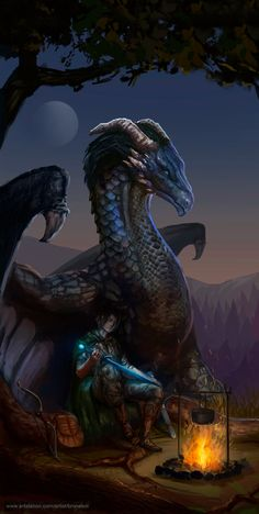Eragon and Saphira by Apljck.deviantart.com on @DeviantArt