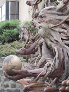 awesome driftwood sculpture