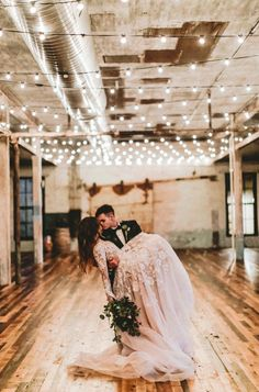 Industrial / contemporary wedding decor