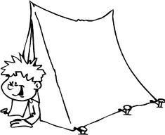 Camping Coloring Pages For Kids - Free Coloring Pages For KidsFree