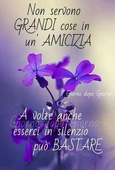 Non servono grandi cose in un'amicizia A volte anche esserci in silenzio può BASTARE #amicizia