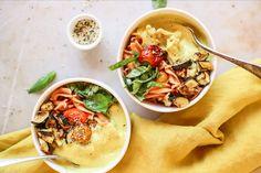 Recipe- Golden zucchini cherry tomato pasta
