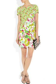 Versus- Cutout floral print stretch mini dress 299$