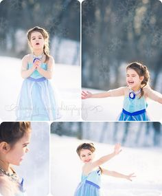 Frozen themed photo shoot by Kimberly Neyer