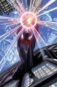 Spider-Man/Miles Morales by Alex Ross Alex Ross, Ultimate Spider Man, Comic Book Covers, Comic Books Art, Comic Art, Book Art, Miles Morales, Amazing Spiderman, Spiderman 1