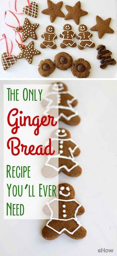 This is the only gingerbread recipe you'll ever need! Classic and delicious, this recipe makes for the perfect gingerbread men, gingerbread stars and gingerbread anything you'll need all winter long. http://www.ehow.com/how_6867998_make-homemade-gingerbread-cookies.html?utm_source=pinterest.com&utm_medium=referral&utm_content=freestyle&utm_campaign=fanpage