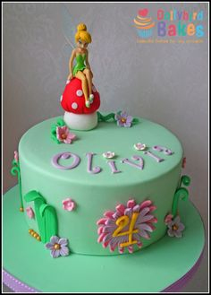 Tinkerbell Cake by DollybirdBakes