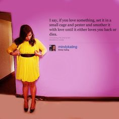 Mindy Kaling doing what she does best (being funny and beautiful, while wearing bright colors I adore)