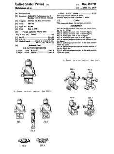 Lego Minifigure US Patent illustration