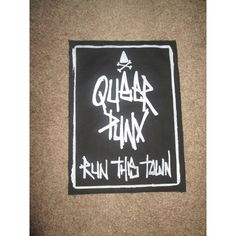 Queer Punx Run This Town Back Patch Print, Screen Print, Punk, Patch,... ($14) ❤ liked on Polyvore featuring accessories