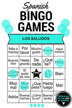 Spanish Greetings Bingo | 40 bingo cards to practice 24 Spanish greetings, farewells and expressions of courtesy. Includes vocabulary lists. Instant, no prep activity. Print & play! #spanishbacktoschool