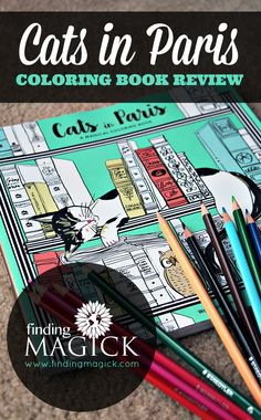 Cats In Paris Coloring Book By Won Sun Jang