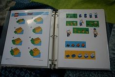 Lego Instruction Binder {print Lego instructions on cardstock and place in page protectors in a 3 ring binder}