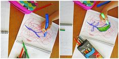 5 Creative Scribble Games to Play with Your Kids Watercolor Pencils, Watercolor Paper, School Art Projects, Coloured Pencils, Stick Figures, Art Classroom, Scribble, Some Fun, Games To Play