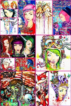 Ghost town art, I don't own any of this amazing awesome art, but I love the band