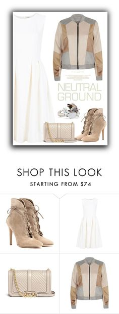 """Neutral"" by cinnamonbelle ❤ liked on Polyvore featuring Gianvito Rossi, ADAM, Rebecca Minkoff, River Island and Alexis Bittar"