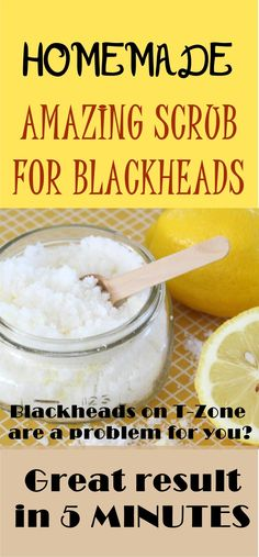 1/2 tsp rice flour with + 5-6 drops of fresh lemon juice. Completely remove traces of cleanser and makeup, apply mixture on the face, insisting, with circular motion, in the T zone. Rice flour is very fine and can clean even the smallest pores while lemon juice whitens and disinfects the skin.