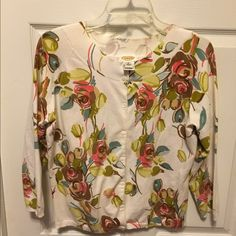 Talbots cardigan MAKE AN OFFER Ready for spring! Pretty floral cardi!! Sz Med Talbots Sweaters Cardigans