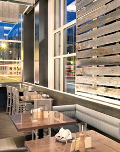 Island Creek Oyster Bar. Nice mix of modern and rustic/raw details.