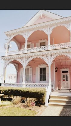 really pretty pink victorian house